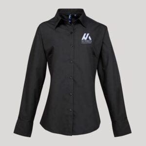 Personalised Ladies Long Sleeve Blouse