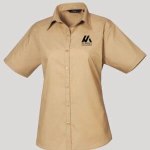 Personalised Ladies Short Sleeve Blouse