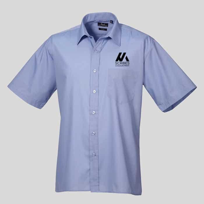 Mens Short Sleeve Poplin Shirt