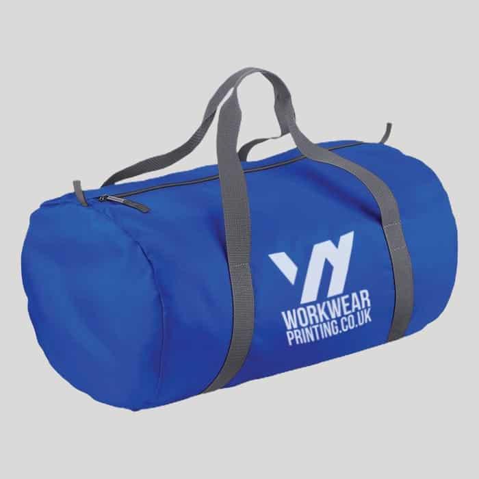 Personalised BagBase Packaway Barrel Bag