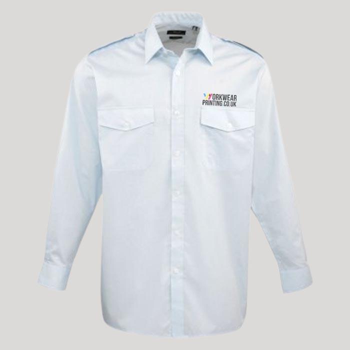 Mens Premier Long Sleeve Pilot Shirt
