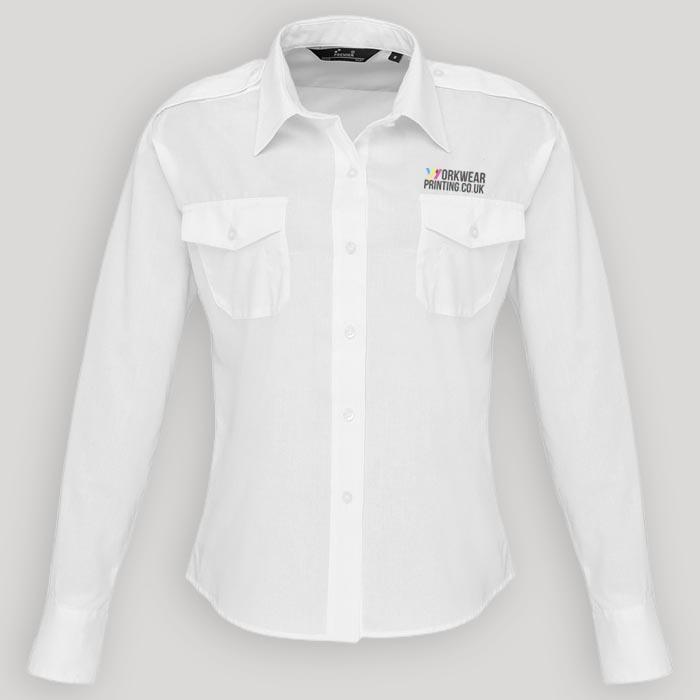 Ladies Premier Long Sleeve Pilot Shirt