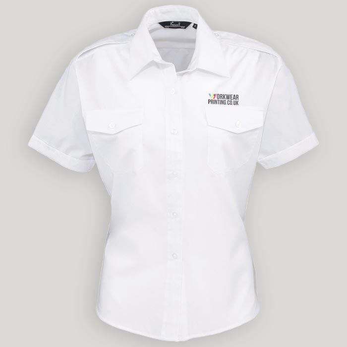 Ladies Premier Short Sleeve Pilot Shirt