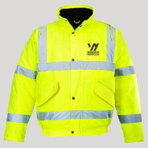 Personalised Hi Vis Bomber Jacket