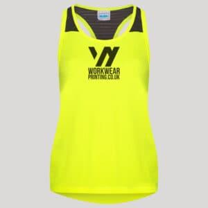 Personalised Ladies Gym Vest