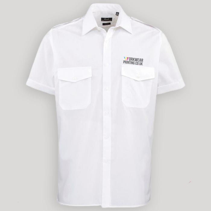 Mens Premier Short Sleeve Pilot Shirt